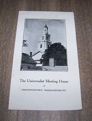 The Universalist Meeting House Provincetown Massachusetts Pamphlet