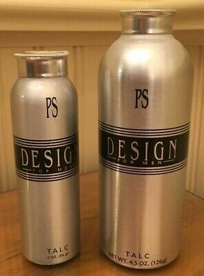 PS Design By Paul Sebastian Men's Fragrance Talc NEW-Rare-Vintage