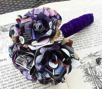 Paper Flower Comic Book Bridal Bouquet Superhero, Marvel or DC Themed Wedding