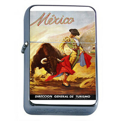 Vintage Poster D43 Windproof Dual Flame Torch Lighter Matador Mexico Turismo