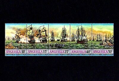 ANGUILLA - 1971 - SAILING SHIPS - SEA BATTLES - WARSHIPS # 131a  MINT - MNH SET!