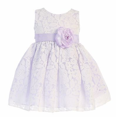 4ec066bf1ff New Baby Toddler Kids Flower Girls Floral Lilac Dress Wedding Easter Party  M726