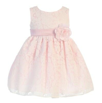 New Baby Toddler Kids Flower Girls Floral Print Cotton Dress Pageant Easter M675