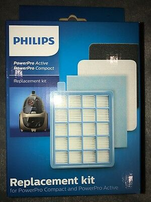 Philips PowerPro Active Compact Vacuum Cleaner Filter Replacement Kit FC8058/01