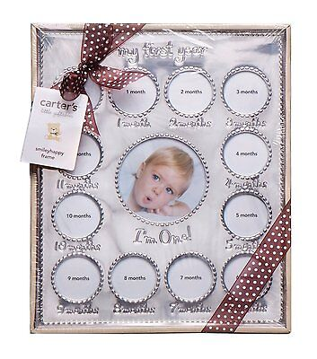 Carter's Baby New Born Gift, Year of Photos Collage Frame, Silver, Free Shipping