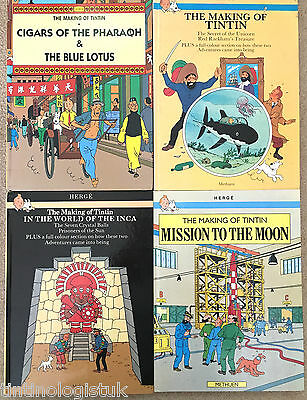 Making of Tintin 1st Editions BUY INDIVIDUALLY Herge EO Moon Inca Rackham Blue