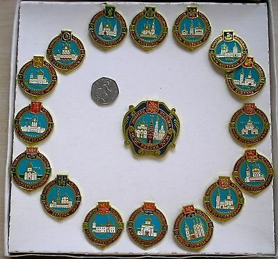 Complete Set Of Russian Large Enamel Badges Boxed with Receipt