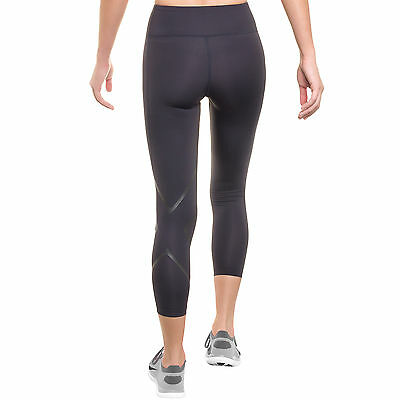 Hyoptik 2XU Women's Large Mid Rise Compression Tights Reflective Black NEW $109