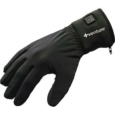 Black Sz XXL Venture City Series Battery Powered Heated Glove Liners Motorcycle