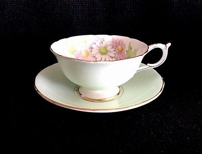Paragon Flower Tea Cup & Saucer Set Bone China England By Appointment Queen Mary