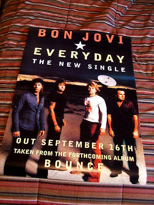 Vintage Bon Jovi Everyday The New Single Poster Collector