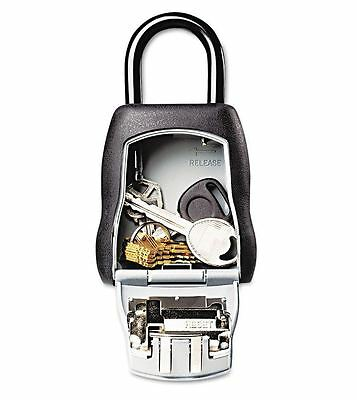 Durable Master Lock Set-Your-Own Combination Lock Box w Spare Key Storage Holder