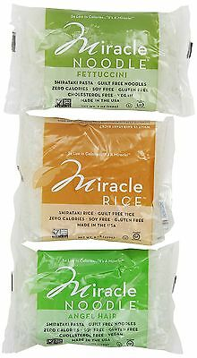 Miracle Noodle Shirataki Pasta Variety Pack (Pack of 6)