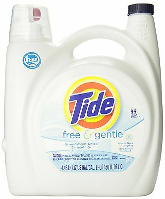 Tide Free and Gentle He Liquid Laundry Detergent, 4.43-Liter- Packaging May Vary