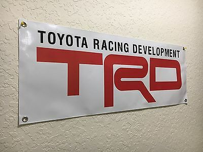TRD Racing Development Car Motor Vinyl BANNER Sign Printed Toyota Garage New