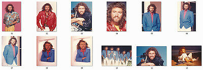 "Barry Gibb / Bee Gees - 12 Unpublished Photos - ""Moonlight Madness"" 1986"