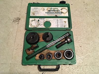 """Greenlee Tools 7238SB Manual Ratchet Wrench Knockout Punch Set 1/2""""-2"""" Conduit"""