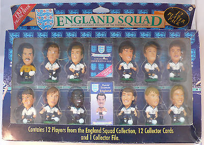Corinthian - ENGLAND SQUAD football Figures; 12 Player Pack (1995), Boxed