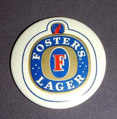 """Fosters Lager Logo Vintage 2.5"""" Button Pin Pinback"""