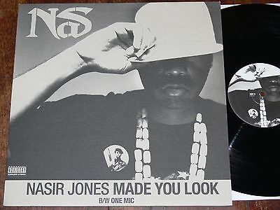 "NAS Made You Look/One Mic 12"" 2002 HIP HOP/RAP Columbia"