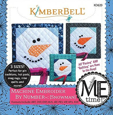 MACHINE EMBROIDER BY NUMBER SNOWMAN MACHINE EMBROIDERY CD, From Kimberbell NEW