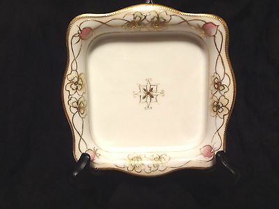 Antique NIPPON Morimura Antique Hand Painted Porcelain Dish, Early 1900's