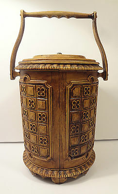 MCM ice bucket The Brentwood Collection original box Granada 1960 with ice tongs