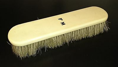 "Quality Vintage Shoe Brush, detailed ""F M"" 20cm"