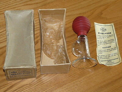 Vtg Antique ''THE DIAMOND BREAST PUMP # 236 by Dominion Rubber CO. Ltd, Canada