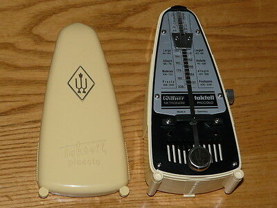 Wittner Taktell Piccolo Metronome in Ivory - Made in West Germany