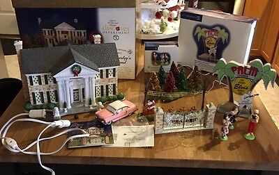 DEPT. 56 55041 ELVIS PRESLEY'S Lot GRACELAND Elvis Autograph Palm Lounge