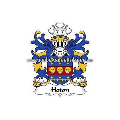 """Genealogy, Family Crest 6"""" Decal- Welsh Armorial- Hoton"""