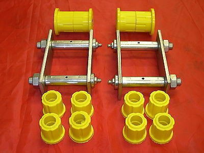 Holden Tf Rodeo Rear Suspension Greasable Spring Shackles X 2 Plus Poly Bush Kit