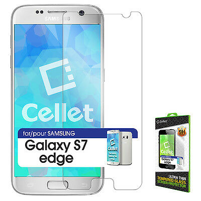 Cellet 0.3mm Premium Tempered Glass Screen Protector for Samsung Galaxy S7 Edge