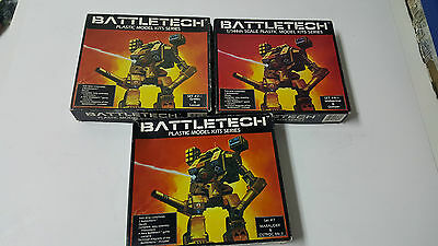 Vintage Lot of 3 Battletech Sets #2, 4, 7 - Sold As-Is for Parts