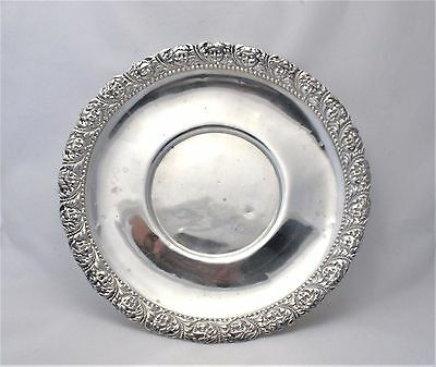 Tiffany & Co Makers .925 Sterling Silver Angels Saucer Plate Circa 1884