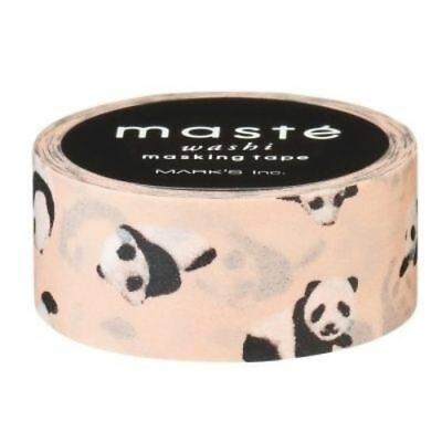 masté - Pandas 15mm x 7m Japanese Washi Tape Masking Cute Planner Decoration