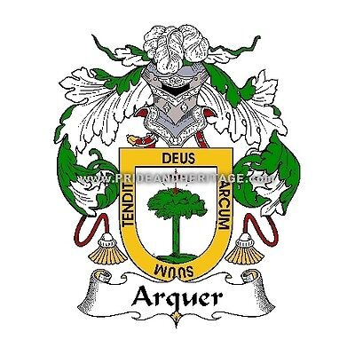 """Genealogy, Family Crest 6"""" Decal- Spanish- Arquer"""