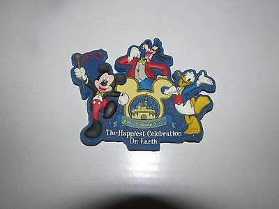 Disney World Magnet Happiest Celebration on Earth Mickey Donald Goofy
