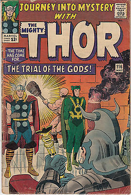 Journey into Mystery #116 (May 1965, Marvel) Trial of the Gods