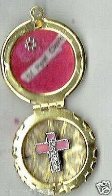 Relic Locket of  St Peter Claver Brass High Quality + Cert + Relic Cards  (2 )