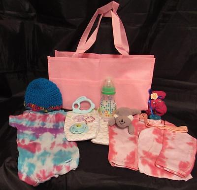 Reborn 3-6 mo baby Grab & Go Complete Diaper bag milk bottle clothes toy paci