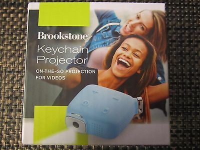 Brookstone Keychain Projector BRAND NEW IN BOX BLUE