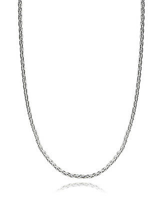 """Spiga Wheat Chain - 925 Sterling Silver Necklace 2mm 045 Italy 16""""-30"""" NEW"""