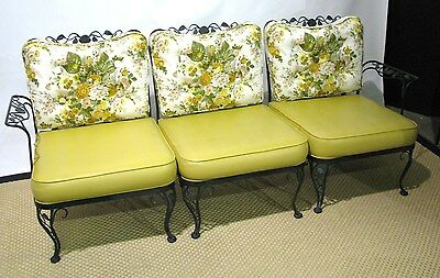 12 Pc Iron Woodard Sunroom Set; Sofa, Rockers, Chair, Ottoman, Table & 4 Chairs