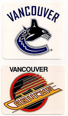 Vancouver Canucks NHL Team Logo Decal Stickers Lot of (2)