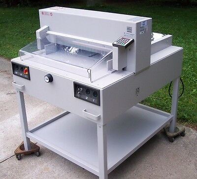 IDEAL 6550-95EP Professional Programmable Paper Cutter w/ Accessories Excellent