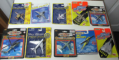 Lot of 10: E-2; S3; A6 Intruder ; F14; C-141 Starlifter; UH-60; Air Force 1 more