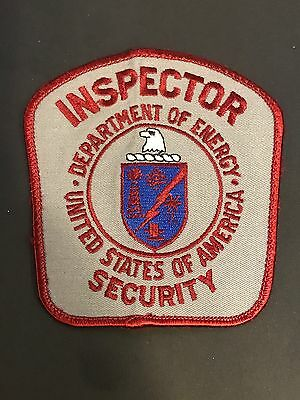US Department Of Energy Security Inspector Patch