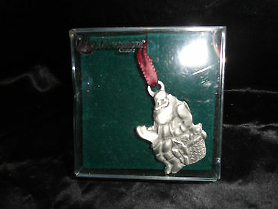 Longaberger Pewter Ornament VTG Santa St. Nick Sitting on Chimney Top MIB 1992